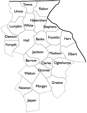 image of counties served